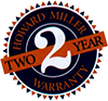 Howard Miller 2 Year Warranty